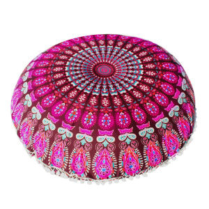 Large Bohemian Round Cushion Cover Pillow Case