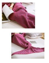 Acrylic Wearable Mermaid Tail Blanket for Women