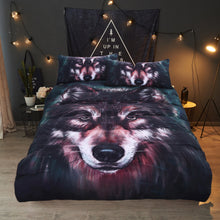 Painted 3D Wolf Bedding Set Duvet Cover With Pillowcase