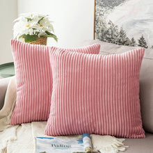 Super-Soft Solid Striped Decorative Cushion Covers