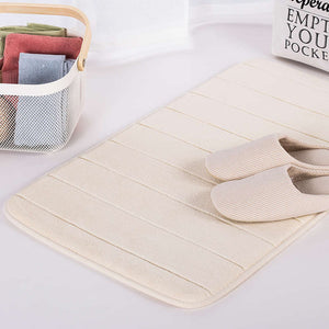 Soft Memory Foam Solid Color Bath Mats and Small Rugs