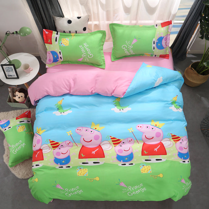 Peppa Pig Duvet Cover and Pillowcase Bedding Set