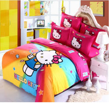 Hello Kitty Rainbow Duvet Cover Set with Pillocwcases