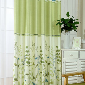 Pastel Floral Dual Color Blackout Window and Door Curtains