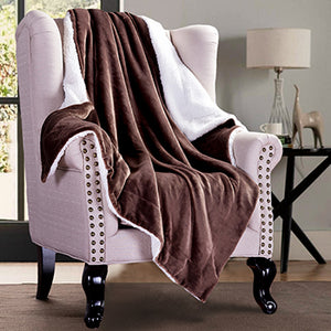 Solid Extra Soft Sherpa Fleece Throw Blankets