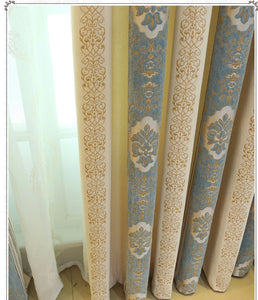 Luxurious Chenille Jacquard Window and Door Curtains