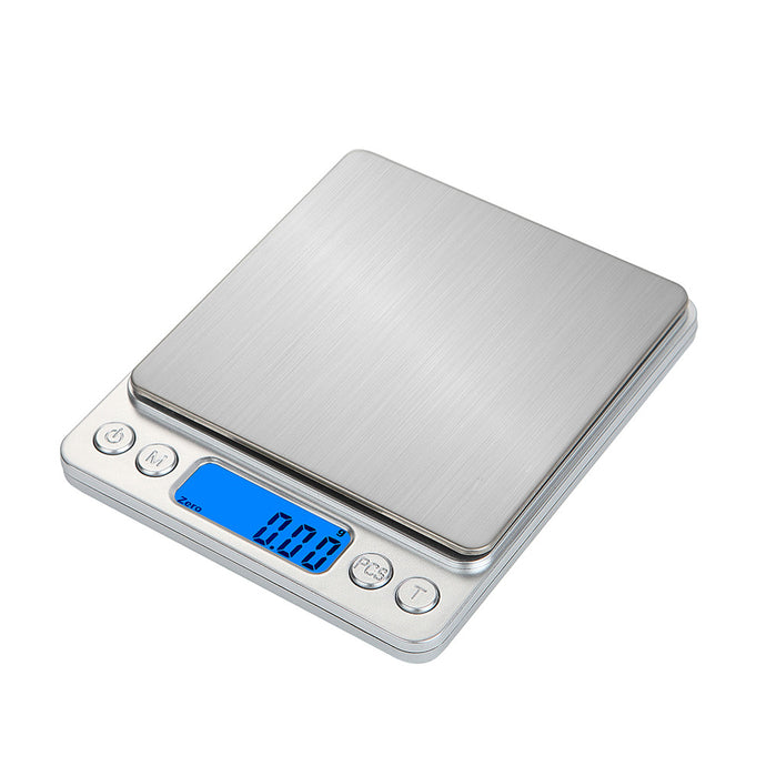 Stainless Steel Digital Kitchen Food Scale with Back-lit Display