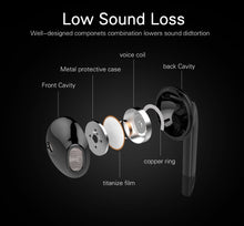 Orig Langsdom BL6 Bluetooth Sports Wireless In-Ear Headphones With Mic