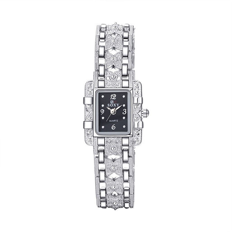 Soxy Luxury Alloy Bracelet Women Quartz Watch