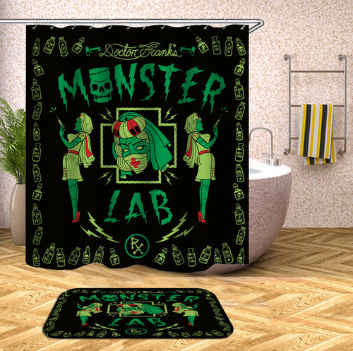 Monster Lab Halloween Shower Curtain