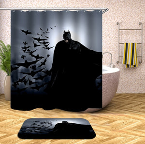Batman and Bats Halloween Shower Curtain
