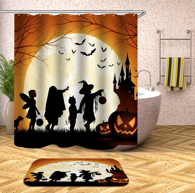 Costume Party Halloween Shower Curtain