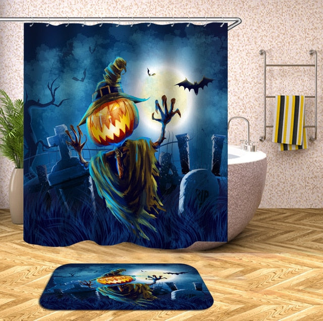 Jack-o-Lantern Halloween Shower Curtain