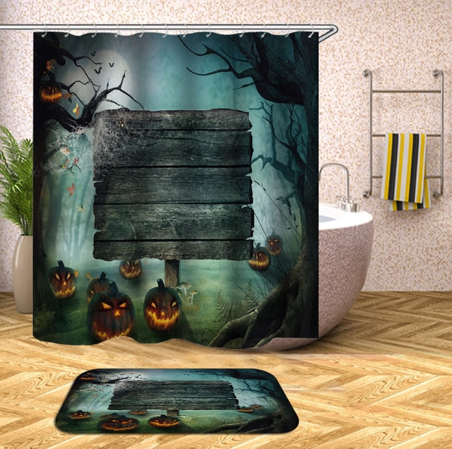 Scary Night Halloween Shower Curtain