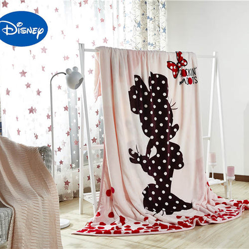 Beautiful Mickey Mouse and Minnie Mouse Coral Fleece Blanket