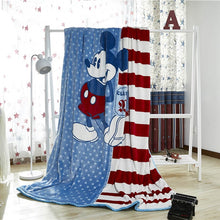 Disney Mickey Mouse and Minnie Mouse Coral Fleece Blanket