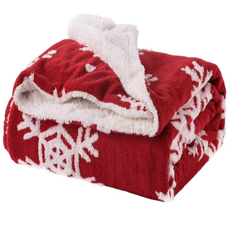 Red and White Snowflake Blanket - Ideas for Christmas Gifting