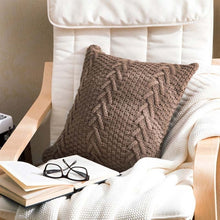 light coffee knitted throw pillow cover