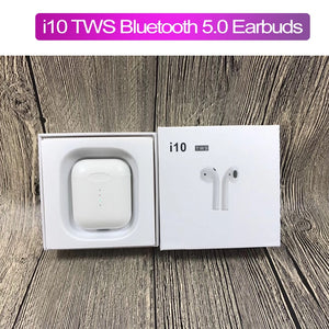 Actual view of the boxed I10 TWS EarPods that look like AirPods