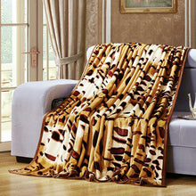 Leopard Print Thick Coral Fleece Blanket