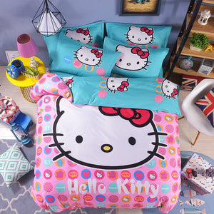 New Hello Kitty Duvet Cover and Pillowcase Set