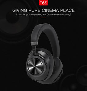 Original Bluedio T6S Bluetooth Active Noise Cancelling  Wireless Headphones
