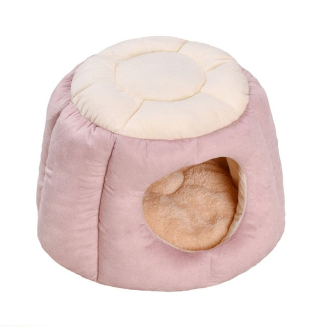 Plush Igloo Small Indoor Cat House | Pet House