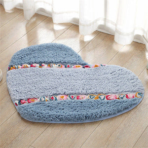 Pastoral Heart-shaped Anti-skid Floor Mat