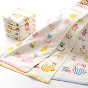 Hello Kitty Cotton Face or Hand Towel For Kids Bathroom | 5 Pack