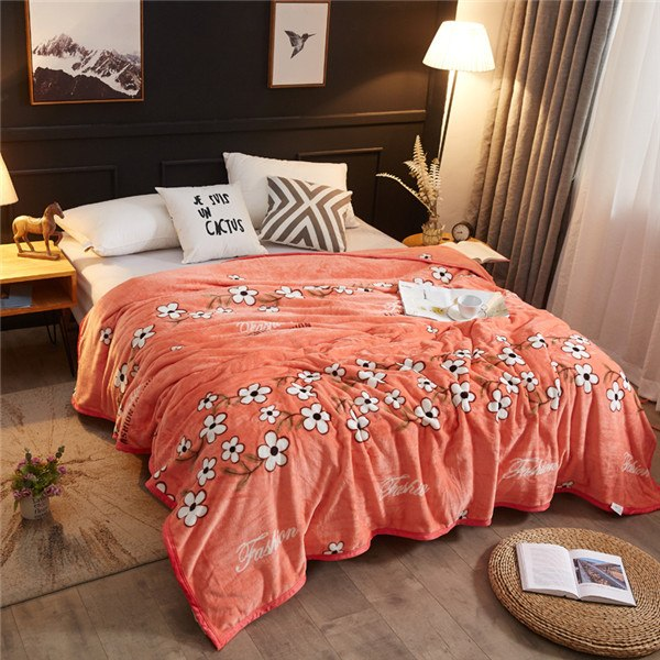 Geometric and Floral Print Extra Soft Blanket