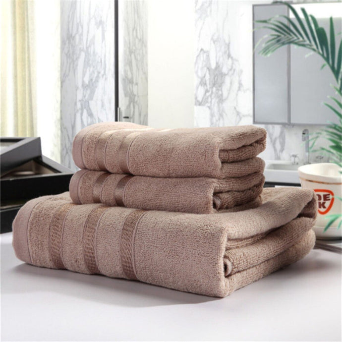 Turkish Bamboo Fiber 3 Piece Towel Set