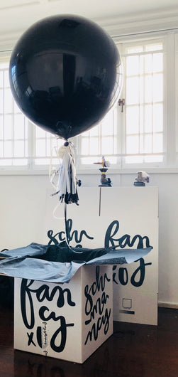 boy gender reveal balloons Brisbane free delivery