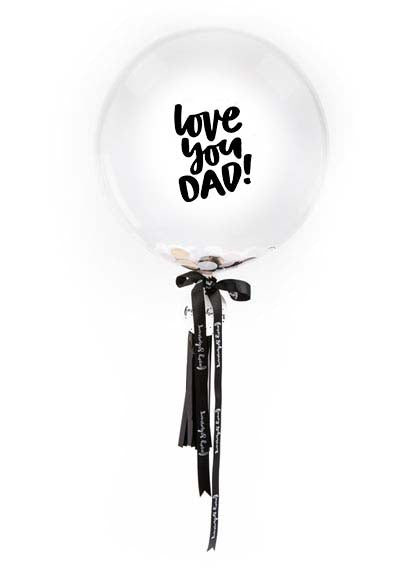 love you dad balloons Brisbane