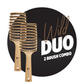 Detangling Scream-Free Hair Brush Duo: Wild Maxi Pack