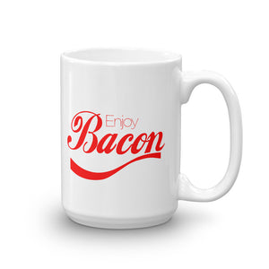 11 oz white ceramic enjoy bacon funny coffee mug