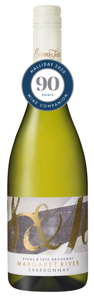 Evans & Tate 2017 Broadway Chardonnay awarded 90 points in the Halliday Wine Companion 2020