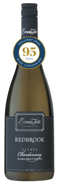 Evans & Tate 2017 Redbrook Estate Chardonnay awarded 95 points in Halliday Wine Companion 2020