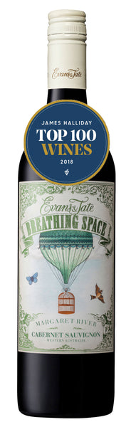 Evans & Tate 2017 Breathing Space Cabernet Sauvignon in James Halliday's Top 100 Wines of 2018