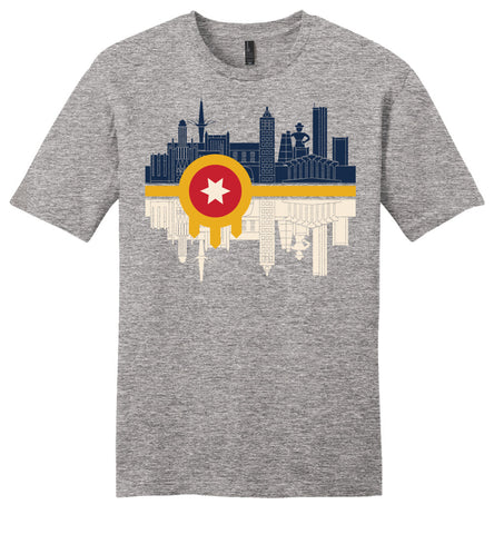 Tulsa Flag Skyline