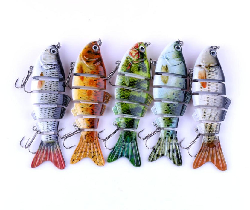 New Jointed Crankbait 6 Sections Swimbait - TurninGEAR