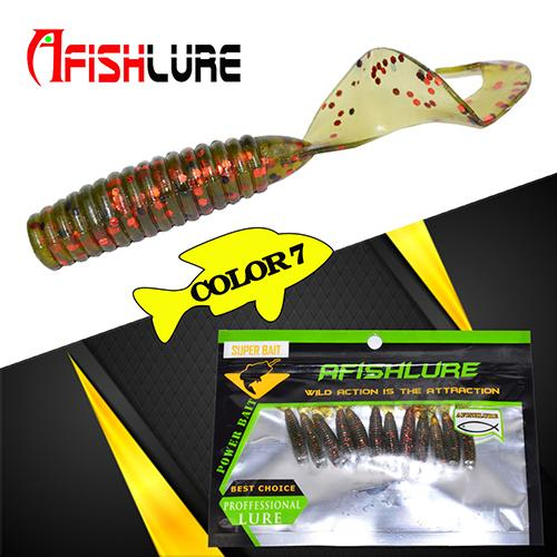 24pcs/lot curly tail grub - TurninGEAR