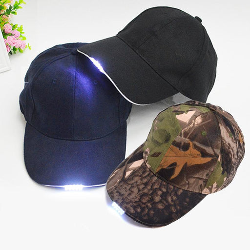 Multicolor Bright Glow in Dark Fishing Hat - TurninGEAR