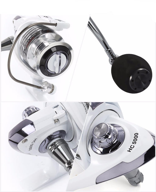 13 + 1BB Gear Ratio Up to 5.2:1 Spinning Fishing Reel - TurninGEAR