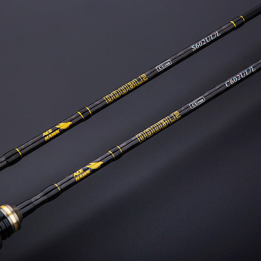 DOUBLE NEW 1.8m Fishing Rod Fast Action