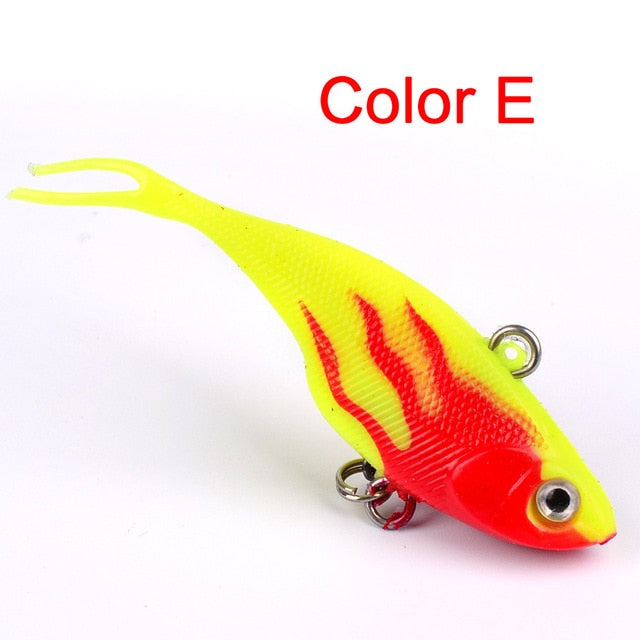 Vibrant Vibrating Spoon Soft With T Tail Fishing Bait