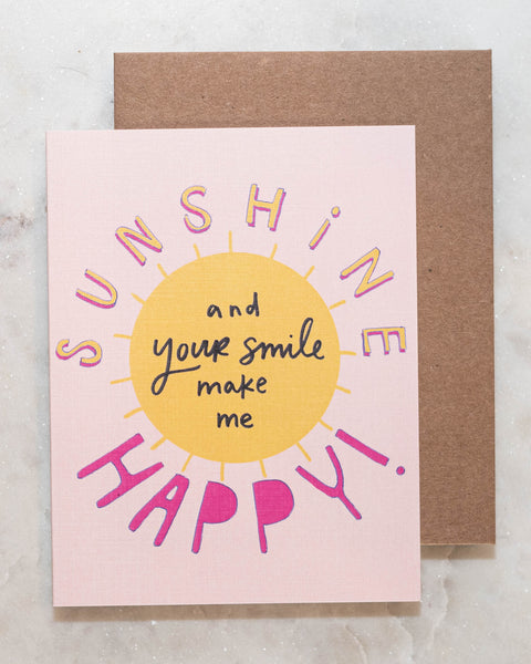Sunshine Happy Greeting Card-Live Love Studio-Shop Anchored Bliss Women's Boutique Clothing Store