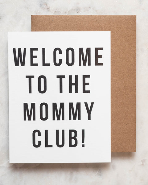 Mommy Club Greeting Card-Live Love Studio-Shop Anchored Bliss Women's Boutique Clothing Store