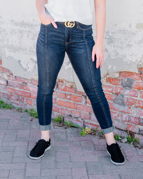 Judy Blue Believe In Me Skinny Jeans-Judy Blue-Shop Anchored Bliss Women's Boutique Clothing Store