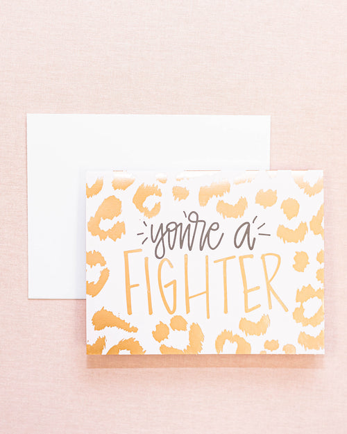 You're A Fighter Greeting Card-Mary Square-Shop Anchored Bliss Women's Boutique Clothing Store