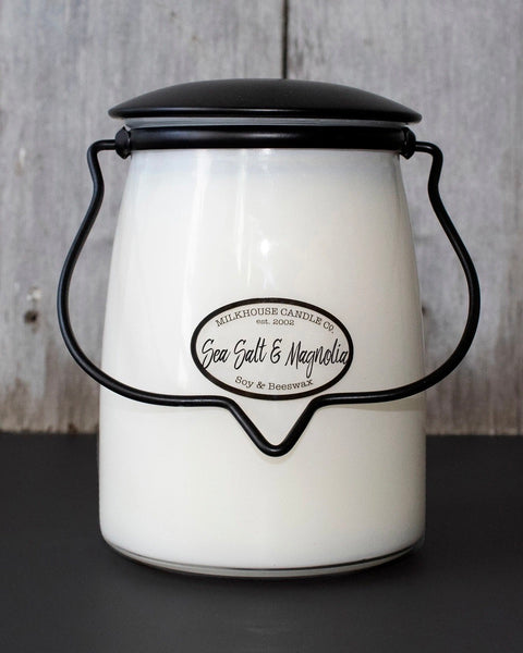 Sea Salt & Magnolia Butter Jar Candle • 22 oz-Milkhouse Candle Company-Shop Anchored Bliss Women's Boutique Clothing Store